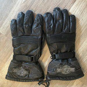 Vintage Harley Davidson Leather Biker Gloves XL